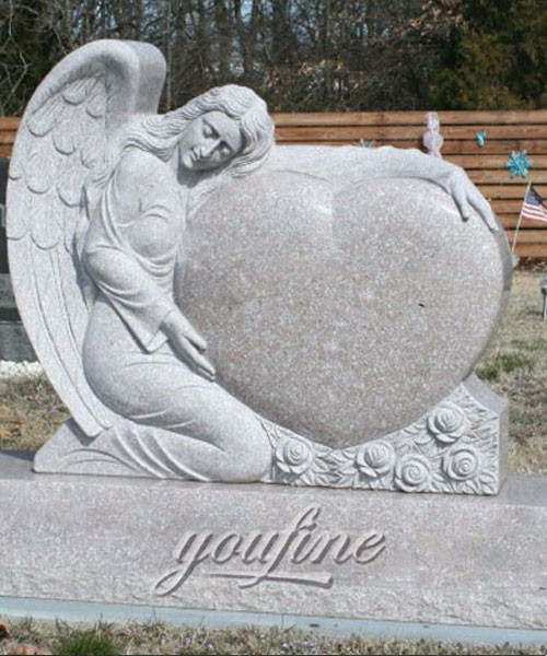 2017 Hot Sale Stone tombstone.Angel headstones new design