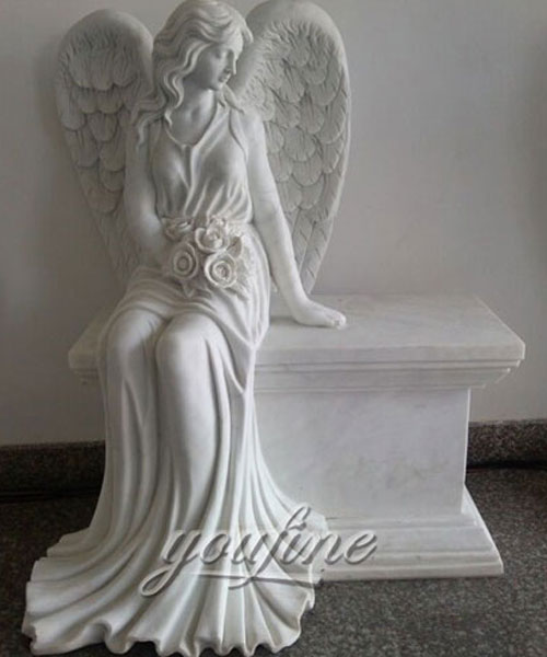 Best Detailed Carvings angel marble headstone design for sale