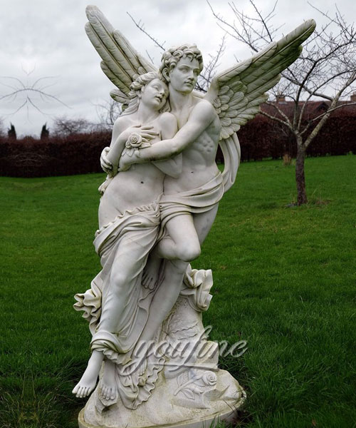 Decorative Marble cupid and psyche sculpture for Garden