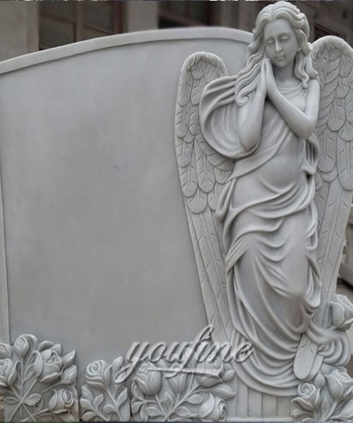 European Monument Hand Carved marble angel headstones for sale