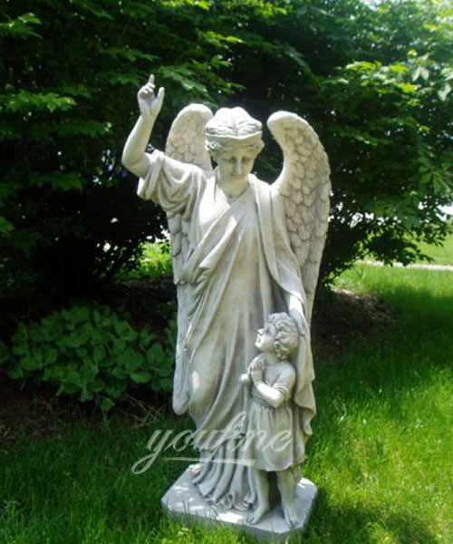 Guardian Angel Child's Prayer Garden Statue for garden