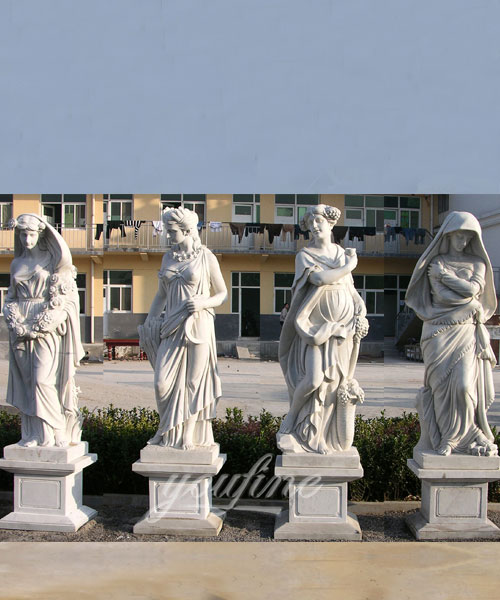 Hand carved classic four season marble statues for sale