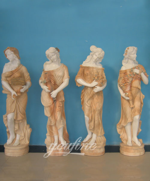High quality garden decoration four seasons stone statue