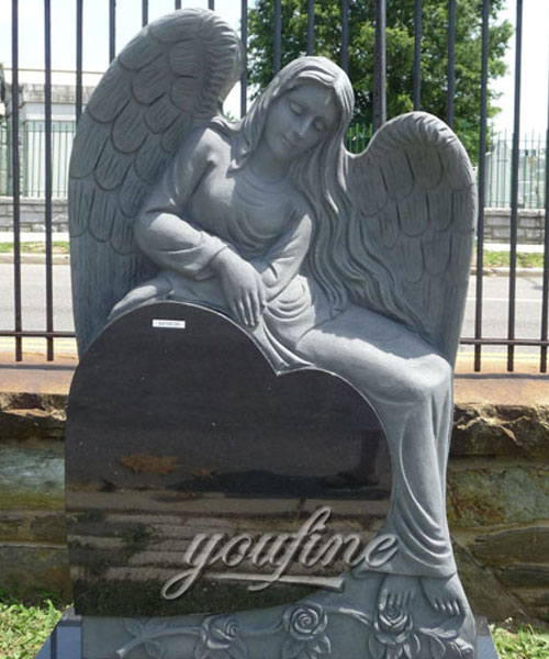 Hot Sale Granite stone Angel Heart Shaped Granite Tombstone grave markers