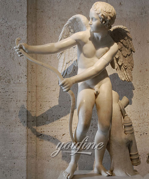 Indoor Cupid angel statue