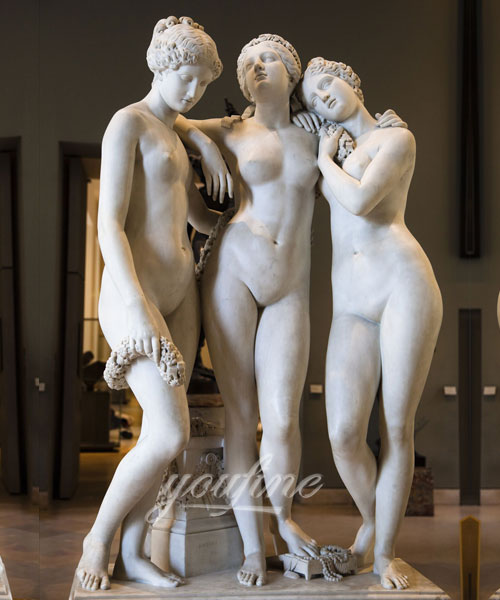 Life size three graces statues in stone for sale