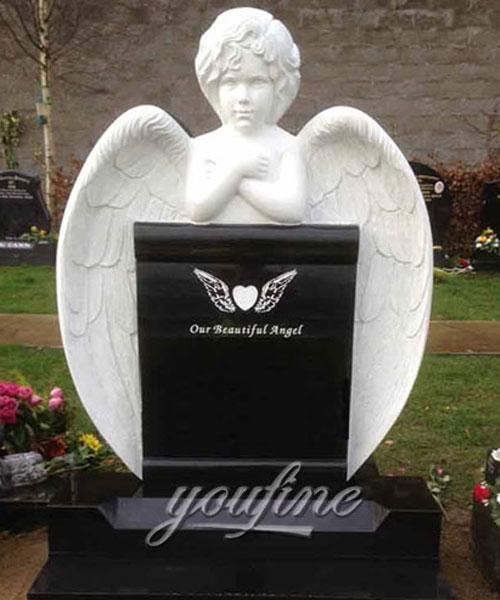 Natural granite Garden cherub Sculpture Tombstone for sale