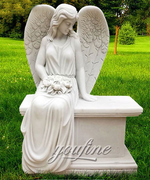 New Designs High Quality carved angel headstone cemetery markers cost (2)