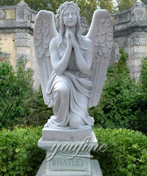 New Designs High Quality exquisite design kneeling angel monuments headstones quotes (2)