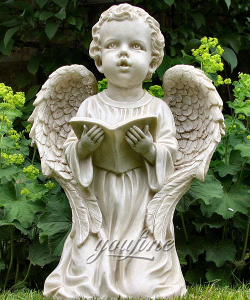 Outdoor baby angel statue