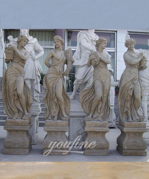 Outdoor custom four season marble statues for decor
