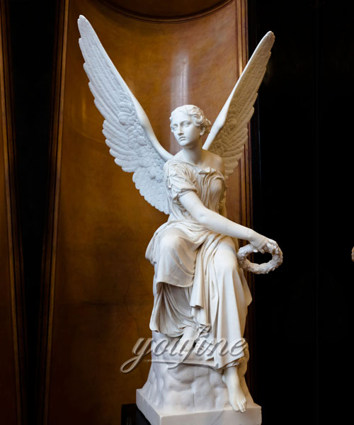 Outdoor garden angel statues marble statues for sale