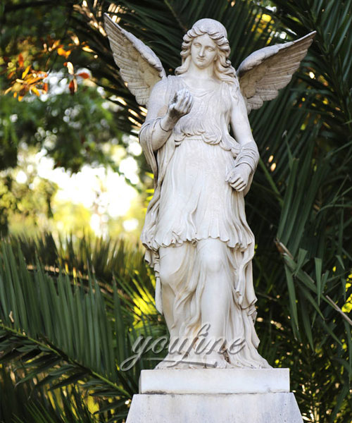 Outdoor yard angels statues marble statues for sale