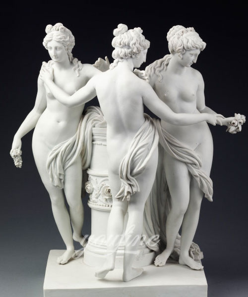 The three graces with white marble carving for sale
