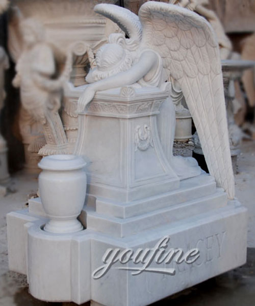 how to buy weeping angel affordable headstone with grave vase (2)