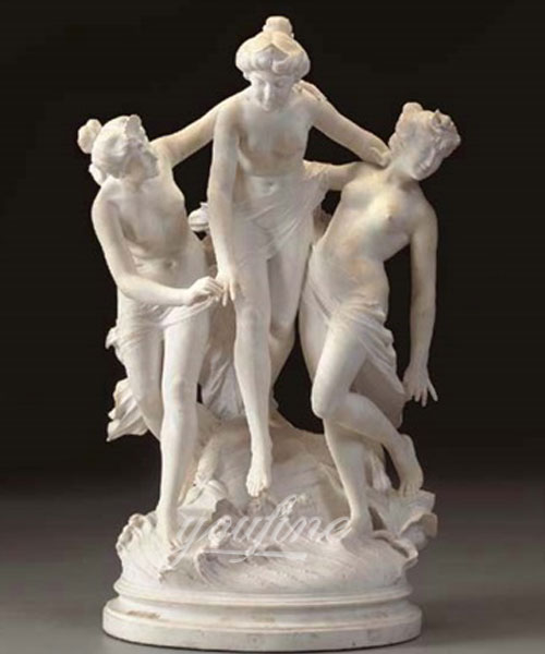 life size white marble three graces statues for sale