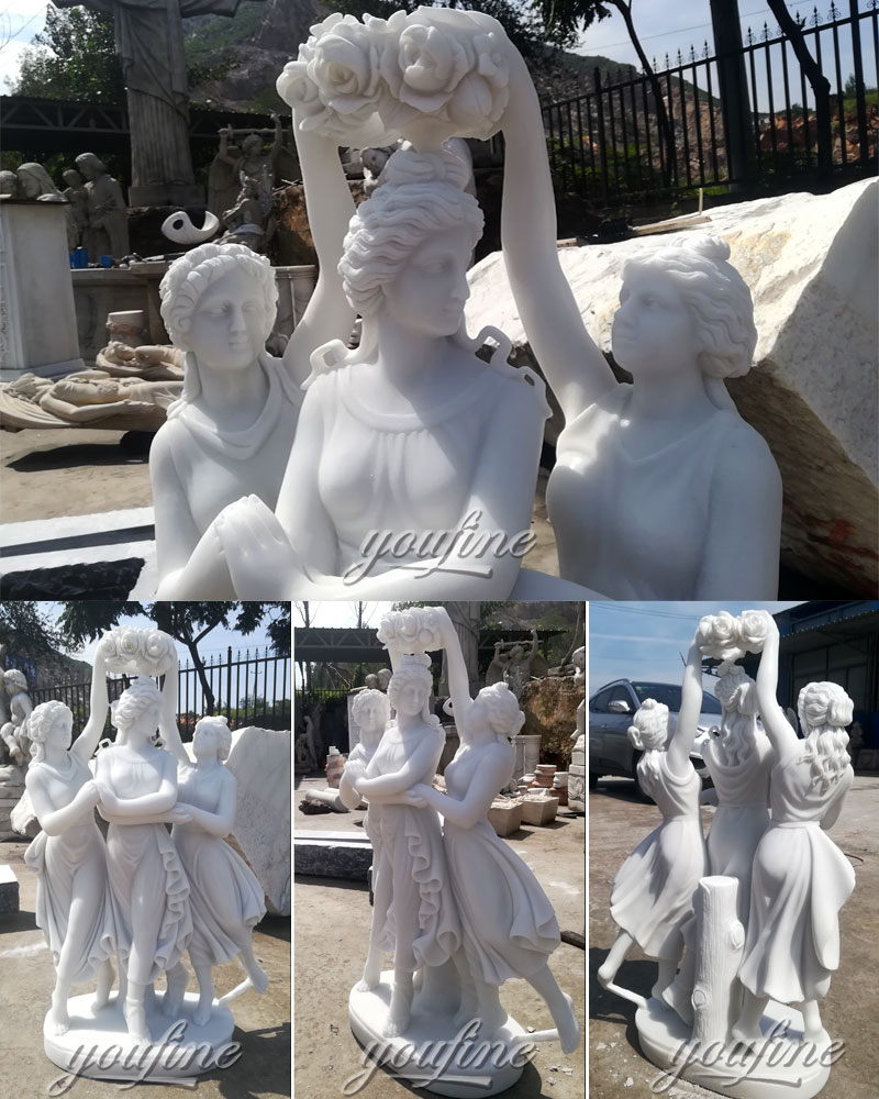 three graces marble statue